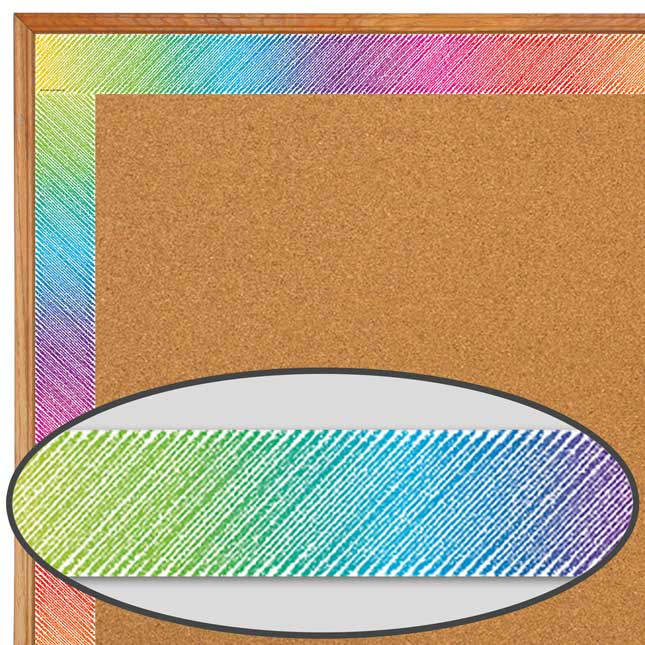 Colorful Scribble Straight Border Trim - 12 pieces of border trim