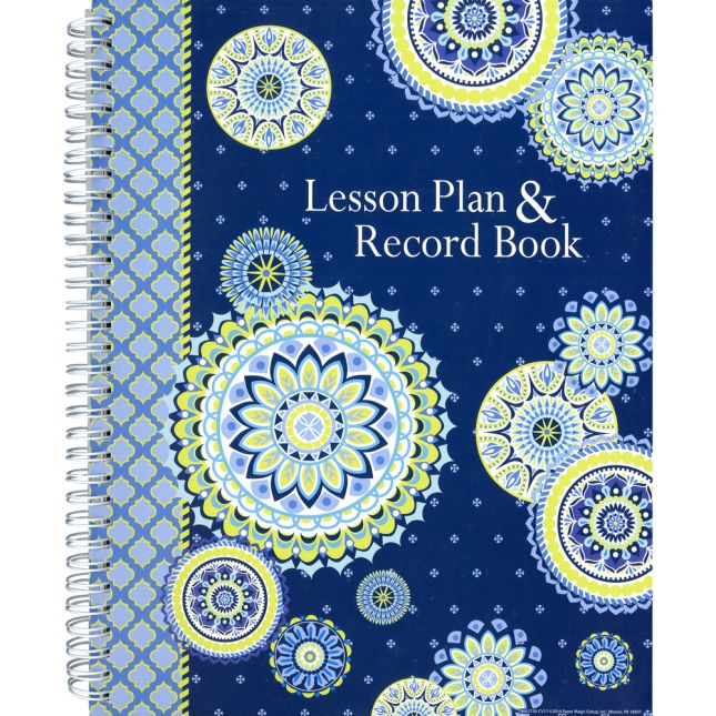 Blue Harmony Class Lesson Plan Book