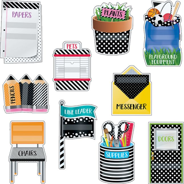Bold and Bright Classroom Jobs Mini Bulletin Board Set