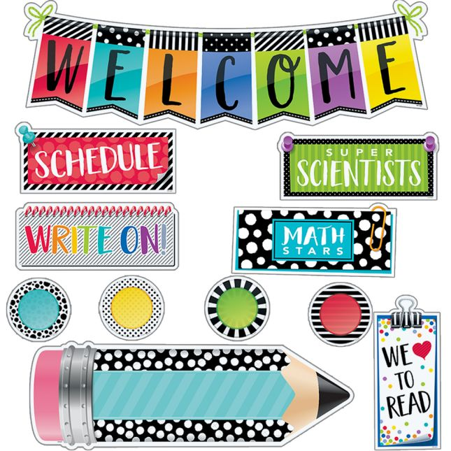 Bold and Bright Welcome Bulletin Board Set