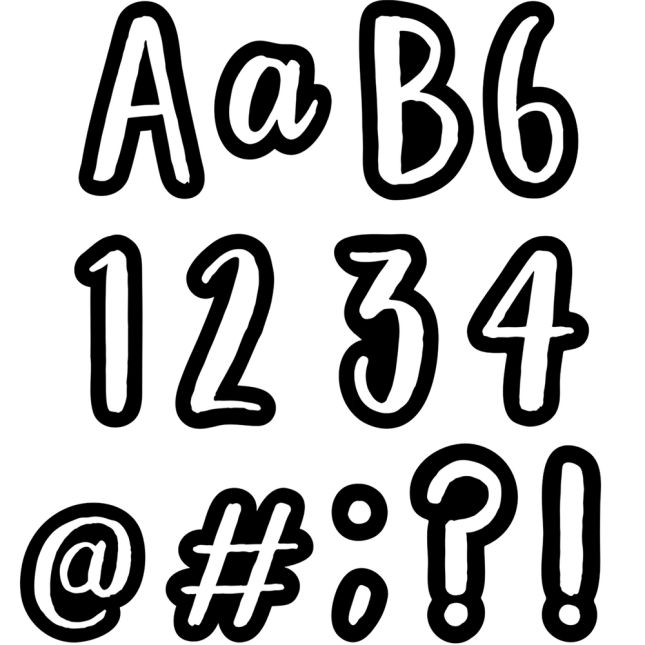 """Bold and Bright Classroom Cafe 4"""" Punch-Out Letters - 212 pieces_0"""