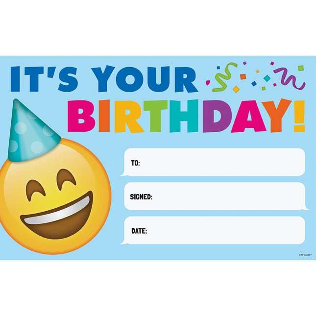 Emoji Fun Happy Birthday Award