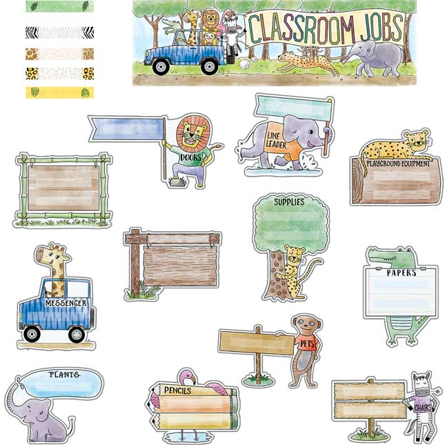 Safari Friends Classroom Jobs Bulletin Board Kit