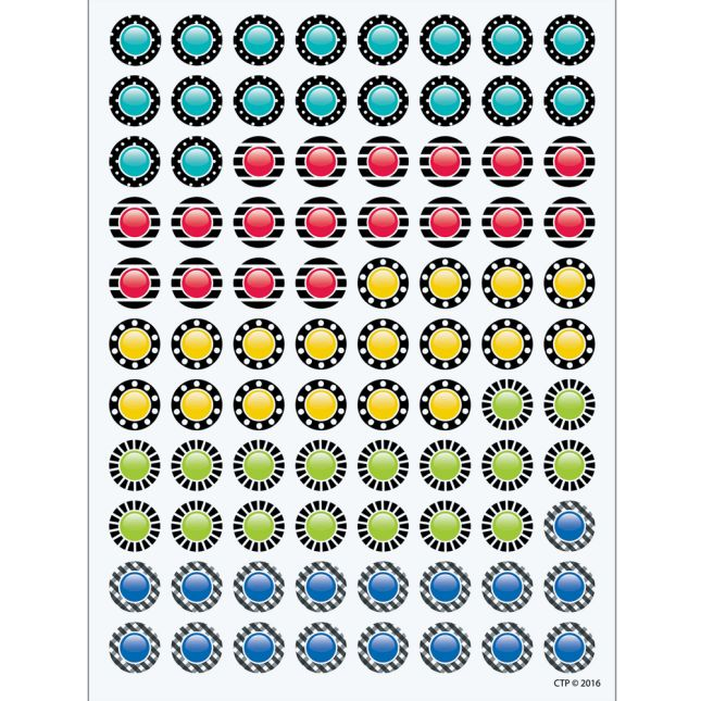 Bold and Bright Student Incentive Charts and Hot Spot Stickers - 916-piece set