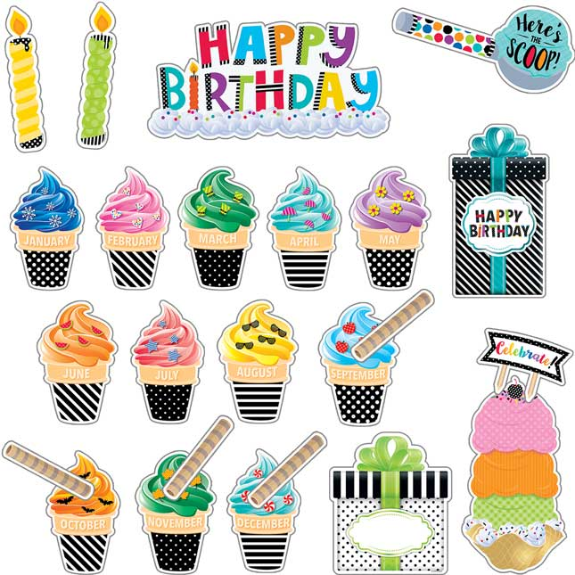 Bold and Bright Happy Birthday Bulletin Board Kit