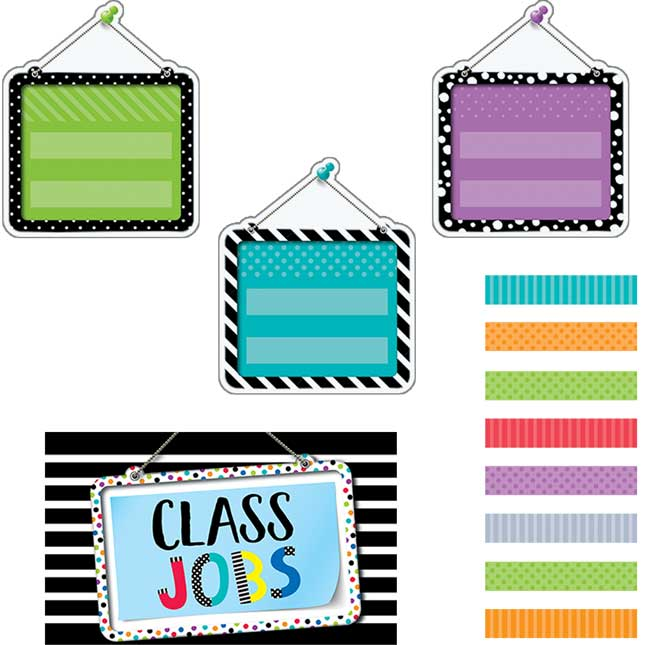 Bold and Bright Classroom Jobs Bulletin Board Kit