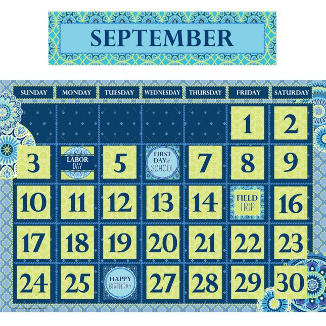 Blue Harmony Bulletin Board Set Collection