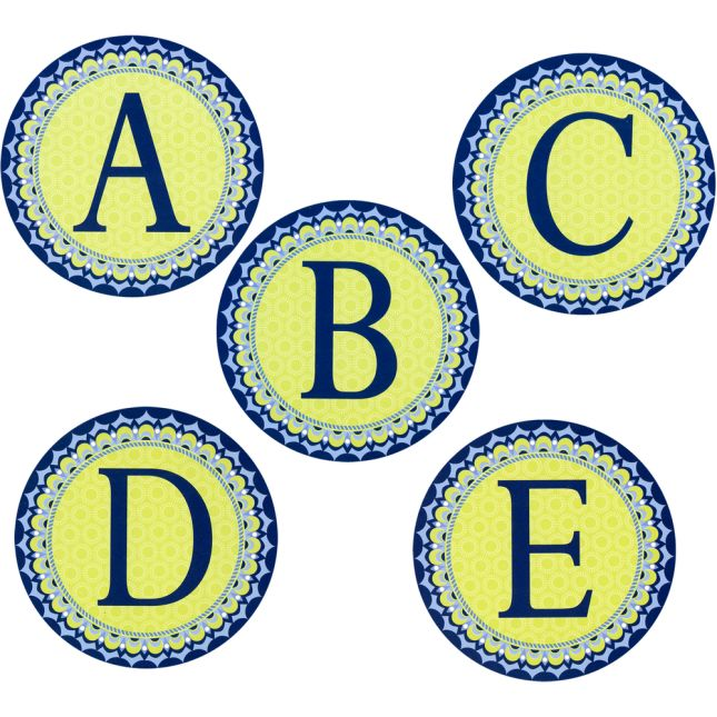 Blue Harmony Decorative Letters Bundle