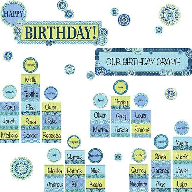 Blue Harmony Classroom Décor Collection