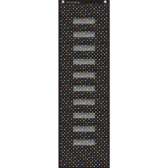 Chalkboard Brights 10-Pocket File Storage - 1 pocket chart