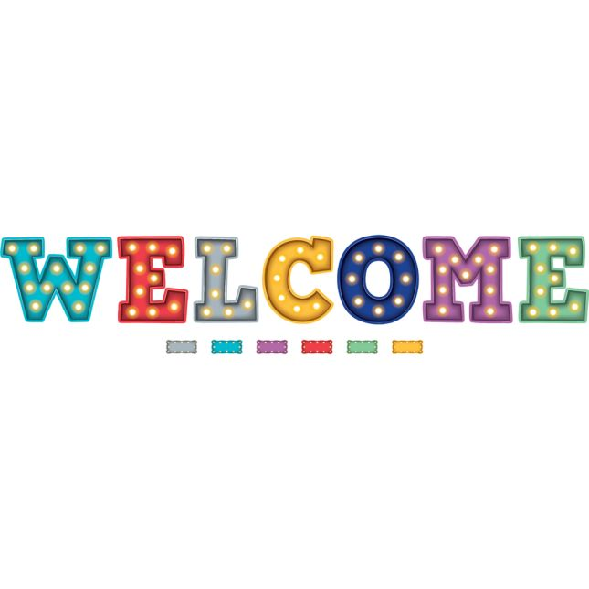 Marquee Welcome Bulletin Board Set