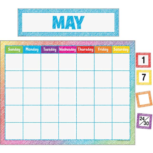 Colorful Scribble Calendar Set