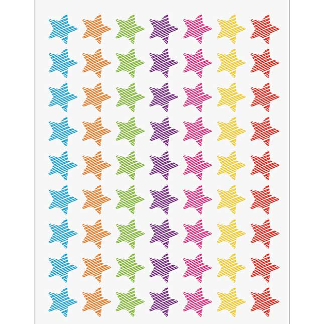 Colorful Scribble Incentive Charts And Mini Stickers