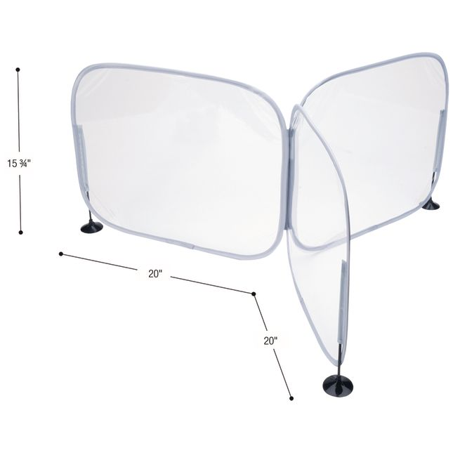 Excellerations 3-Way Desktop Barrier - 1 desk barriers