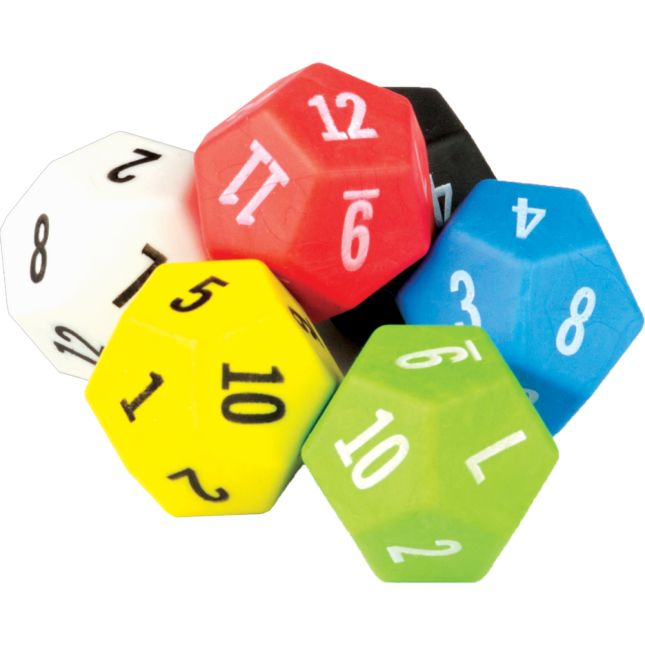 12-Sided Dice 6-Pack