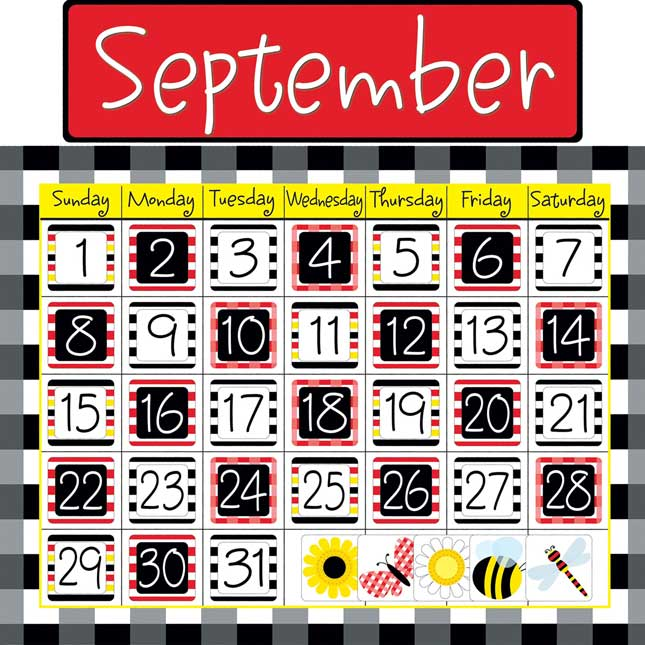 Buffalo Plaid Calendar Chart Kit