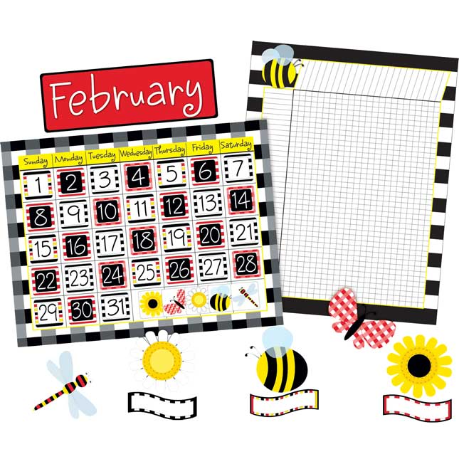 Buffalo Plaid Calendar and Incentive Chart Set