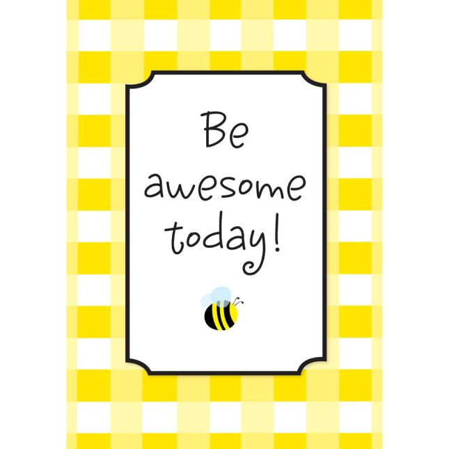 Buffalo Plaid Be Awesome Today Poster - 1 poster