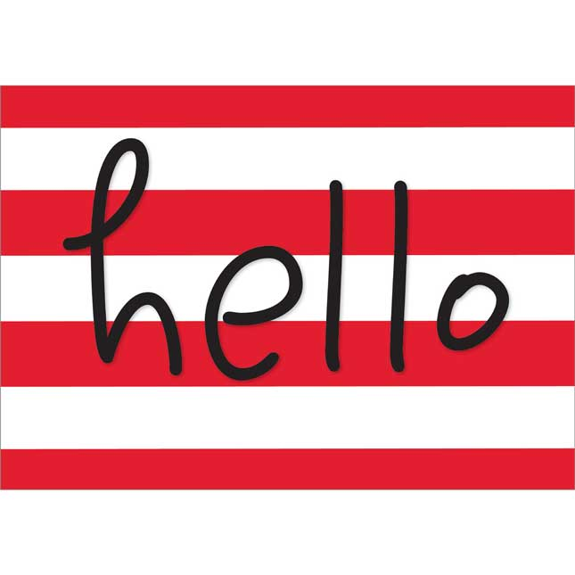 "Buffalo Plaid ""Hello"" Poster"