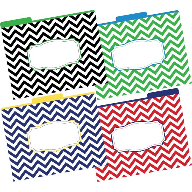 Chevron File Folders - 12 folders