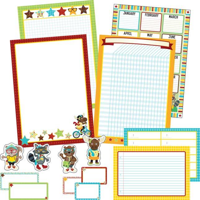 Hipster Classroom Organization Decor Kit