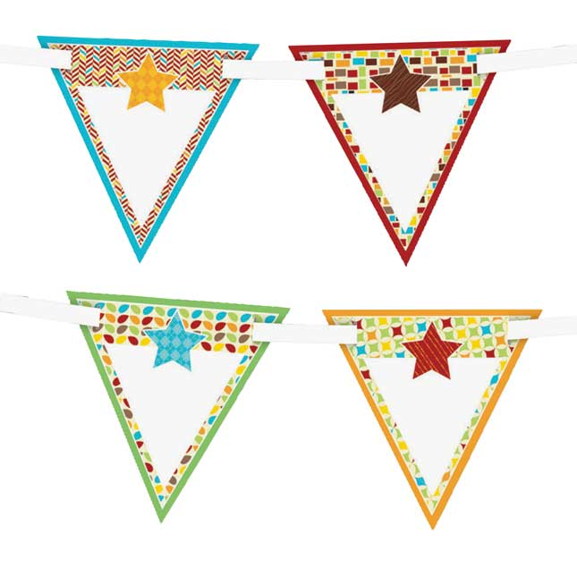 Hipster Bunting Decor