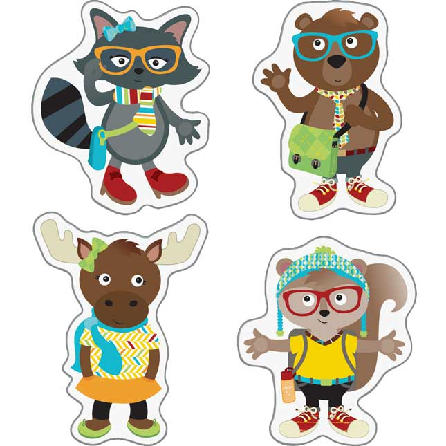 Hipster Pals Decor Cut Outs
