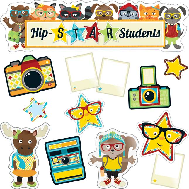 Hipster Star Students Bulletin Board Kit