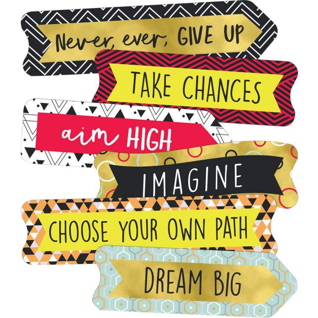 Aim High Motivational Banners Cutouts - 112 pieces