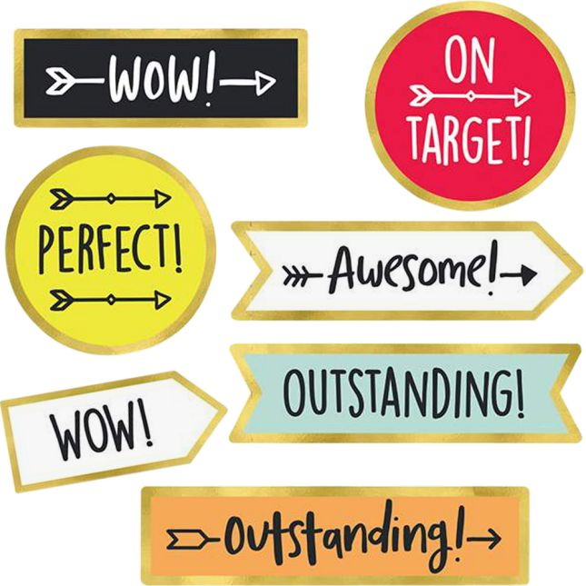 Aim High Motivational Stickers - 144 stickers