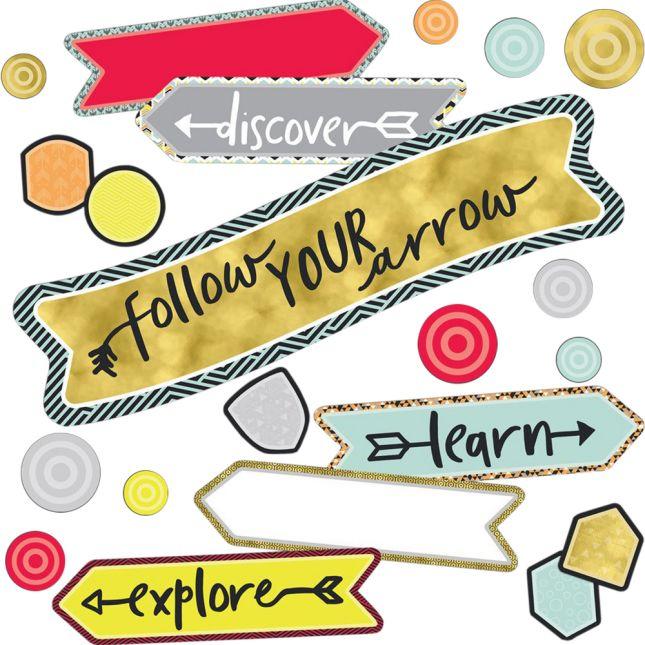 Aim High Follow Your Arrow Bulletin Board Kit