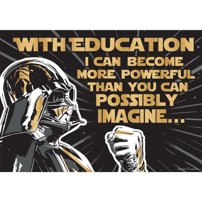 Star Wars Darth Vader Education Poster