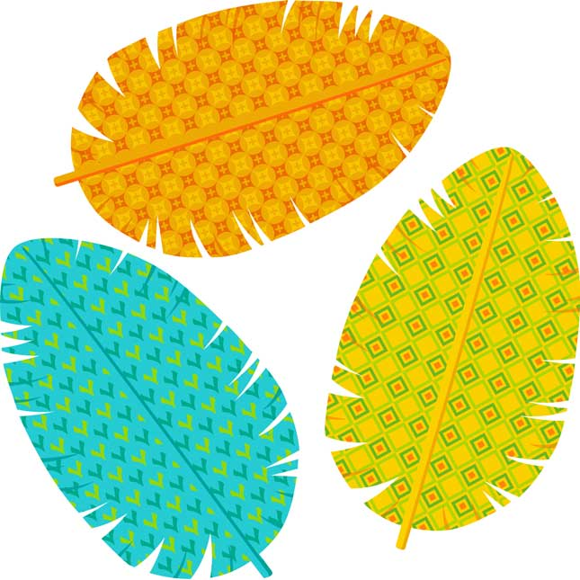 You-Can Toucan Feathers - Assorted Paper Cutouts