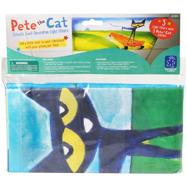 Pete The Cat School's Cool! Decorative Light Filters - 3 panels