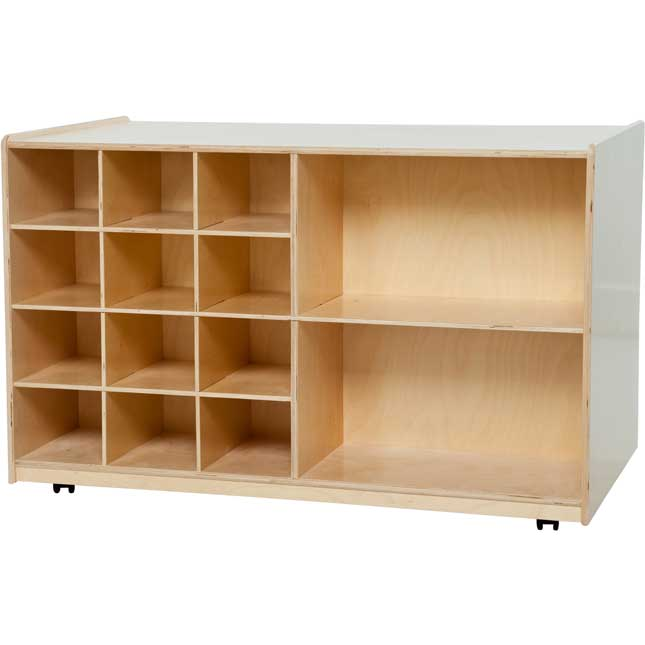 Wood Designs™ Mobile Tray And Shelving Storage - Without Trays