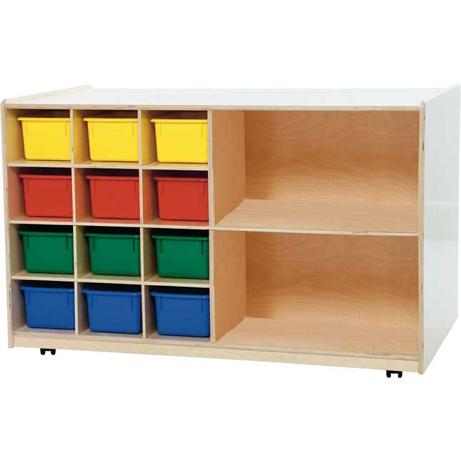 Wood Designs™ Mobile Tray And Shelving Storage - Assorted Trays