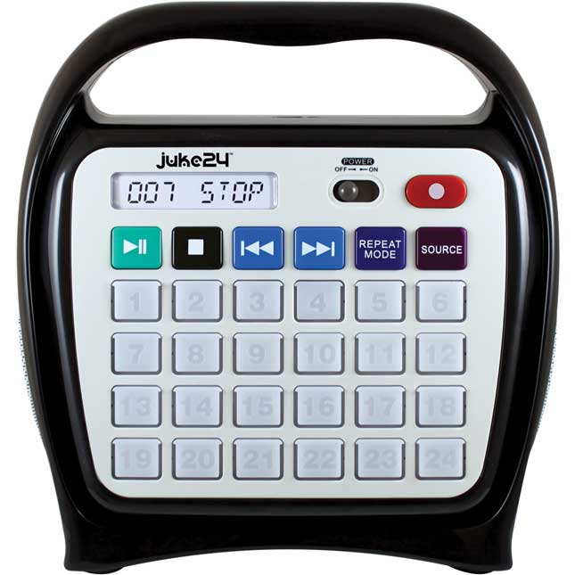 Juke24™ Portable, Digital Jukebox With CD Player And Karaoke Function