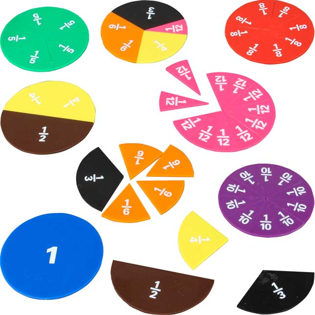 Printed Fraction Circles - 51 pieces