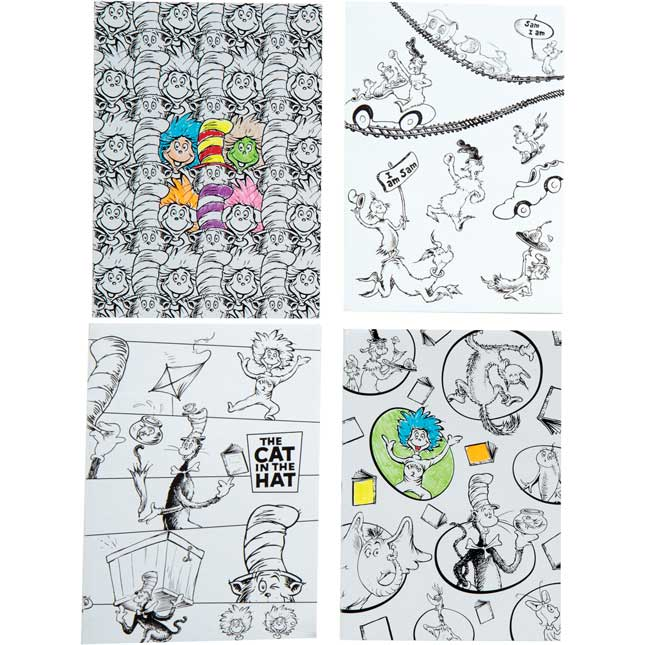 Dr. Seuss Color-Your-Own Mini Notebooks