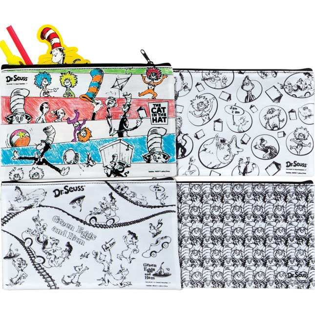 Dr. Seuss Color-Your-Own Pencil Pouches