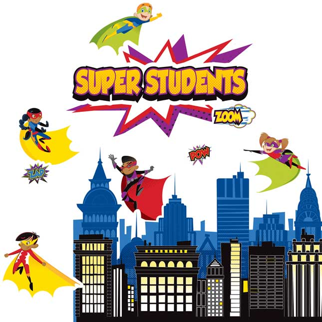 Super Power Heroic Classroom DÉcor Kit - 214-piece set