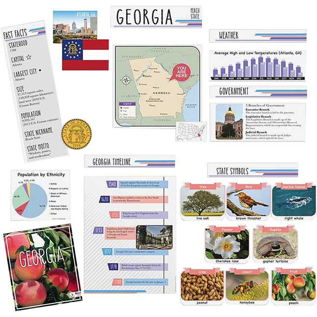 Georgia State Facts Bulletin Board Set