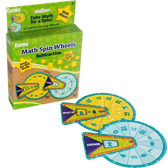 Math Spin - Subtraction Flash Cards Manipulatives