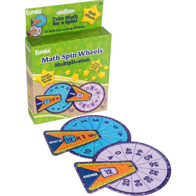 Math Spin - Multiplication Flash Cards Manipulatives - 12 wheels