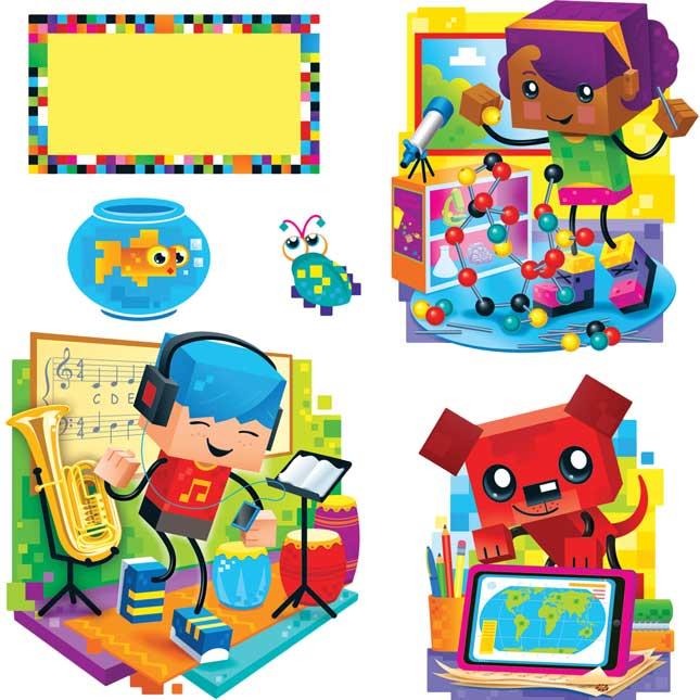BlockStars™ Bulletin Board Set