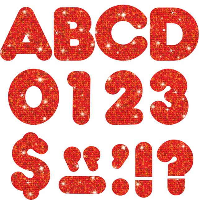 "Red Sparkle 4"" Casual Ready Letters®"