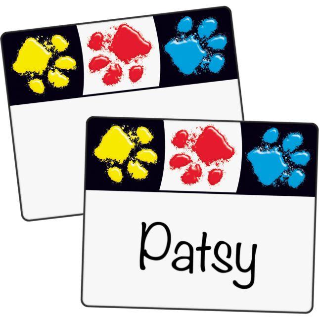 Paw Prints Terrific Labels™