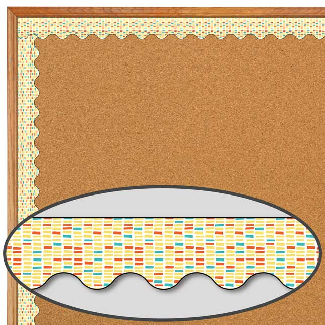 Up And Away Yellow Brick Scalloped Border