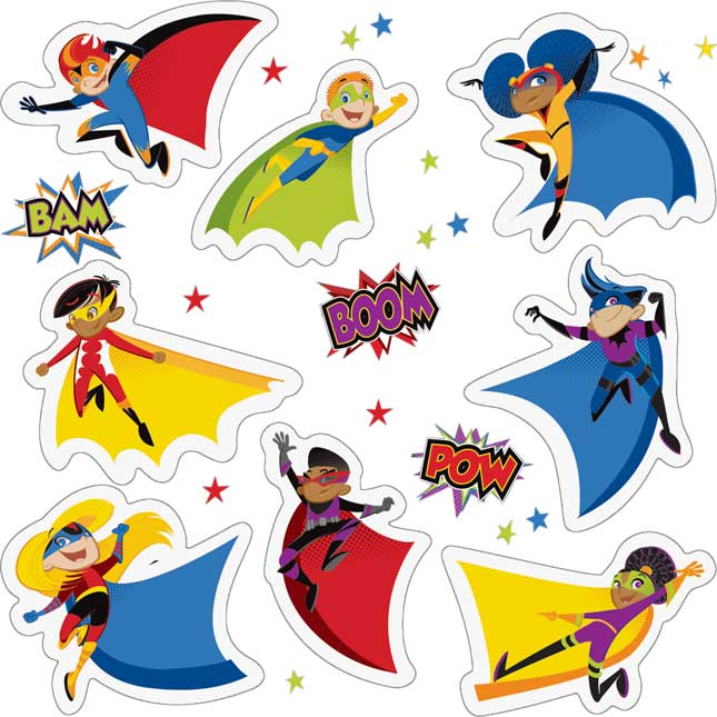 Super Power Kids Stickers Pack