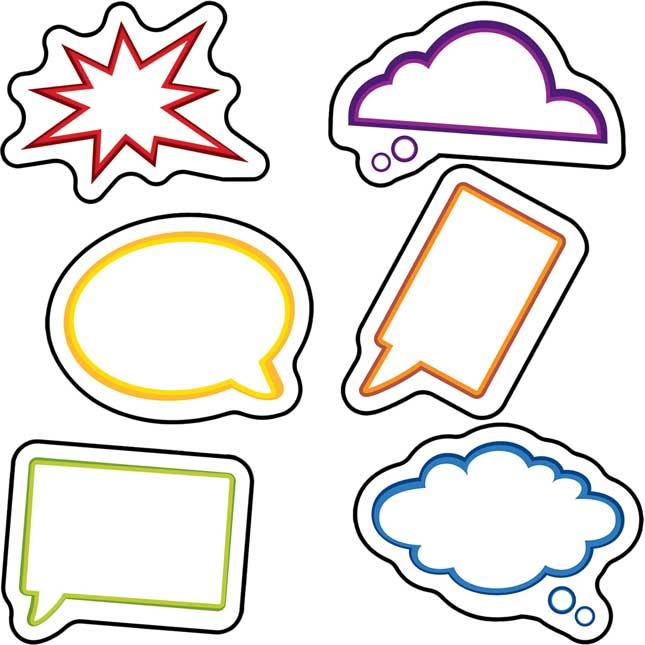 Super Power Speech Bubbles Mini Cutouts